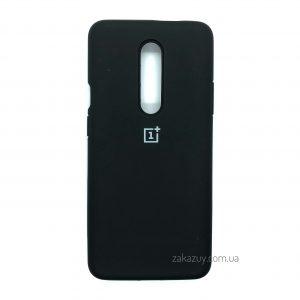 Оригинальный чехол Silicone Cover 360 с микрофиброй для OnePlus 7 Pro (Black)