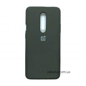 Оригинальный чехол Silicone Cover 360 с микрофиброй для OnePlus 7 Pro (Dark Grey)