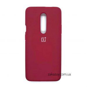 Оригинальный чехол Silicone Cover 360 с микрофиброй для OnePlus 7 Pro (Hot Pink)