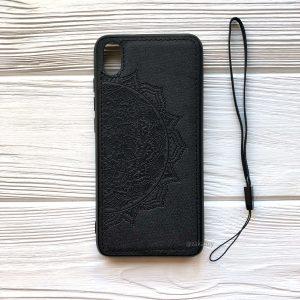 TPU+Textile чехол Mandala с 3D тиснением для Xiaomi Redmi 7A (Черный)