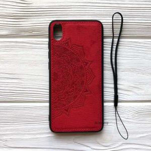 TPU+Textile чехол Mandala с 3D тиснением для Xiaomi Redmi 7A (Красный)