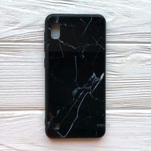 TPU+Glass чехол Luxury Marble с мраморным узором для Samsung A105 Galaxy A10 2019 (Черный)