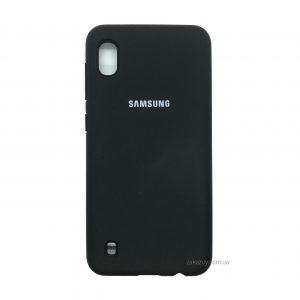 Оригинальный чехол Silicone Cover 360 с микрофиброй для Samsung A105 Galaxy A10 2019 (Black)
