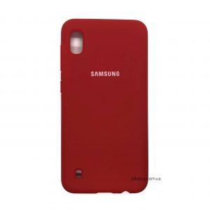 Оригинальный чехол Silicone Cover 360 с микрофиброй для Samsung A105 Galaxy A10 2019 (Red)
