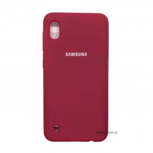Оригинальный чехол Silicone Cover 360 с микрофиброй для Samsung A105 Galaxy A10 2019 (Hot Pink)