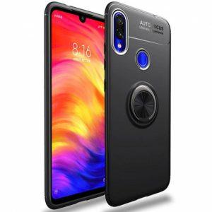 Cиликоновый чехол Deen ColorRing c креплением под магнитный держатель для Samsung Galaxy A20 / A30 2019 (Черный)