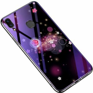 TPU+Glass чехол Fantasy с глянцевыми торцами для Samsung A205 / A305 Galaxy A20 / A30 2019 (Bubbles and flowers)