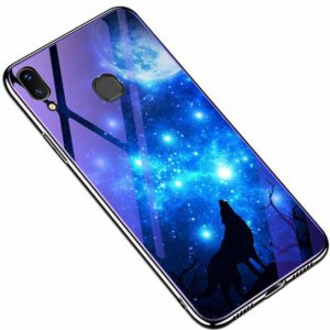 TPU+Glass чехол Fantasy с глянцевыми торцами для Samsung A205 / A305 Galaxy A20 / A30 2019 (Moon night)