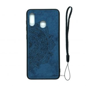 TPU+Textile чехол Mandala с 3D тиснением для Samsung Galaxy A50 2019 (A505) / A30s 2019 (A307) (Синий)