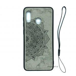 TPU+Textile чехол Mandala с 3D тиснением для Samsung A205 / A305 Galaxy A20 / A30 2019(Серый)