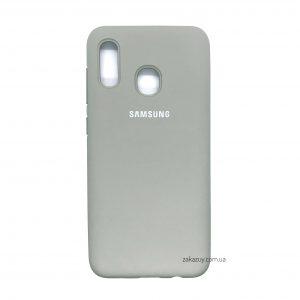 Оригинальный чехол Silicone Cover 360 с микрофиброй для Samsung A205 / A305 Galaxy A20 / A30 (Grey)