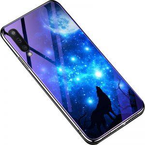 TPU+Glass чехол Fantasy с глянцевыми торцами для Samsung Galaxy A50 2019 (A505) / A30s 2019 (A307) (Moon night)