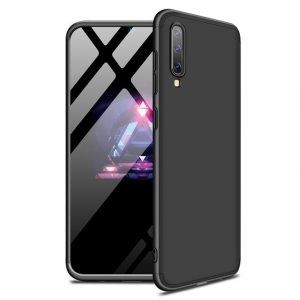 Матовый пластиковый чехол GKK 360 градусов для Samsung Galaxy A50 2019 (A505) / A30s 2019 (A307) (Black)