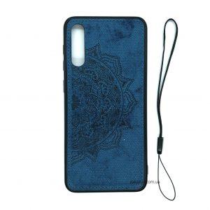 TPU+Textile чехол Mandala с 3D тиснением для Samsung Galaxy A70 2019 (A705) – Синий