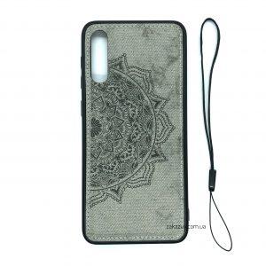 TPU+Textile чехол Mandala с 3D тиснением для Samsung Galaxy A50 2019 (A505) / A30s 2019 (A307) (Серый)