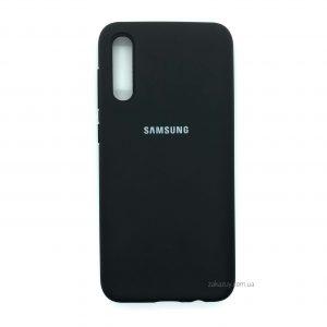 Оригинальный чехол Silicone Cover 360 с микрофиброй для Samsung Galaxy A70 2019 (A705) Черный