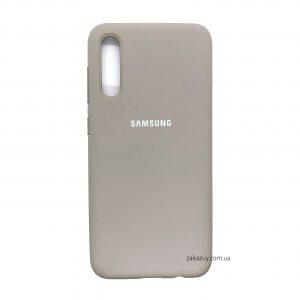 Оригинальный чехол Silicone Cover 360 с микрофиброй для Samsung Galaxy A50 2019 (A505) / A30s 2019 (A307) (Gray)
