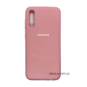Оригинальный чехол Silicone Cover 360 с микрофиброй для Samsung Galaxy A50 2019 (A505) / A30s 2019 (A307) (Pink)