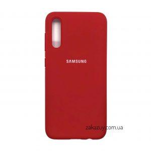 Оригинальный чехол Silicone Cover 360 с микрофиброй для Samsung Galaxy A70 2019 (A705) Красный