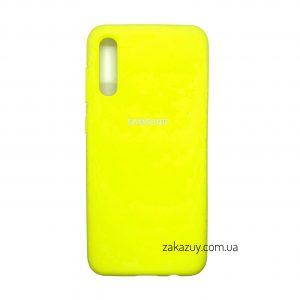 Оригинальный чехол Silicone Cover 360 с микрофиброй для Samsung Galaxy A50 2019 (A505) / A30s 2019 (A307) (Yellow)