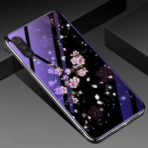 TPU+Glass чехол Fantasy с глянцевыми торцами для Xiaomi Mi 9 (Flowers)