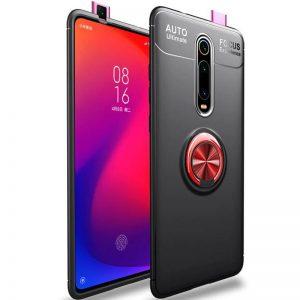 Cиликоновый чехол Deen ColorRing c креплением под магнитный держатель для Xiaomi Redmi K20 / K20 Pro / Mi 9T / Mi 9T Pro (Красный)