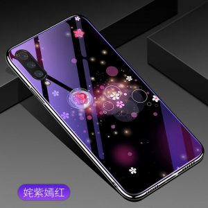 TPU+Glass чехол Fantasy с глянцевыми торцами для Xiaomi Mi 9 (Bubbles and flowers)