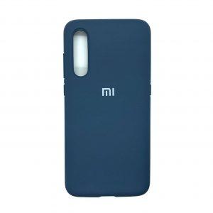 Оригинальный чехол Silicone Cover 360 с микрофиброй для Xiaomi Mi 9 (Синий)