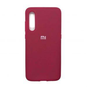 Оригинальный чехол Silicone Cover 360 с микрофиброй для Xiaomi Mi 9 (Малиновый)