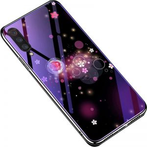 TPU+Glass чехол Fantasy с глянцевыми торцами для Xiaomi Mi 9 SE (Bubbles and Flowers)