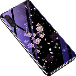 TPU+Glass чехол Fantasy с глянцевыми торцами для Xiaomi Mi 9 SE (Flowers)