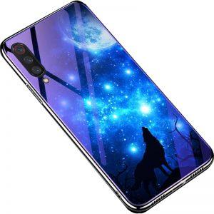 TPU+Glass чехол Fantasy с глянцевыми торцами для Xiaomi Mi 9 SE (Moon night)