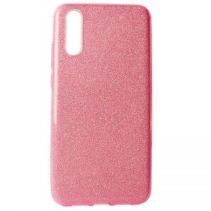 Cиликоновый (TPU+PC) чехол Shine с блестками для Xiaomi Mi 9 SE (Розовый)
