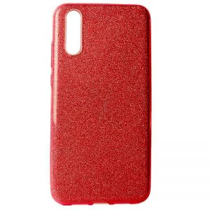 Cиликоновый (TPU+PC) чехол Shine с блестками для Samsung Galaxy A70 2019 (A705) – Красный