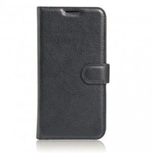Кожаный чехол-книжка Wallet Glossy с визитницей для Xiaomi Redmi K20 / K20 Pro / Mi 9T / Mi 9T Pro (Черный)