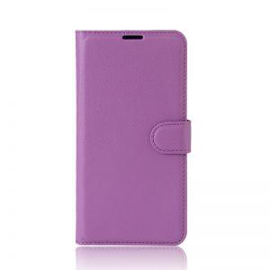 Кожаный чехол-книжка Wallet Glossy с визитницей для Xiaomi Redmi K20 / K20 Pro / Mi 9T / Mi 9T Pro (Фиолетовый)