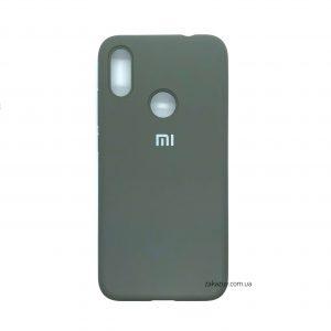 Оригинальный чехол Silicone Cover 360 с микрофиброй для Xiaomi Redmi Note 7 / 7 Pro (Dark Grey)