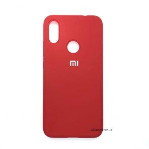 Оригинальный чехол Silicone Cover 360 с микрофиброй для Xiaomi Redmi 7 (Красный)