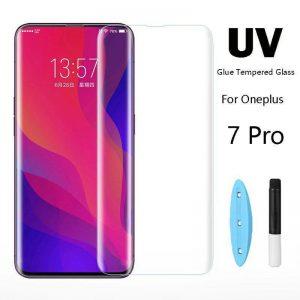Защитное стекло 3D / 5D UV Full Glue с УФ клеем для OnePlus 7 Pro / 7T Pro