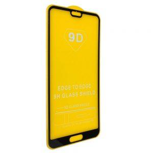 Защитное стекло 9D Full Glue на весь экран для Huawei P20 (Black)