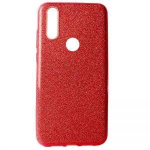 Cиликоновый (TPU+PC) чехол Shine с блестками для Huawei P30 Lite (Красный)