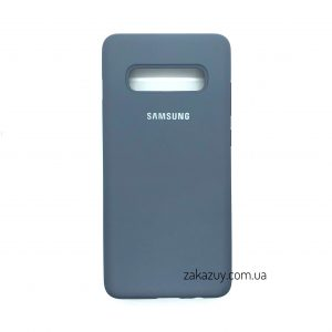 Оригинальный чехол Silicone Cover 360 с микрофиброй для Samsung G975 Galaxy S10 Plus (Lavender Grey)