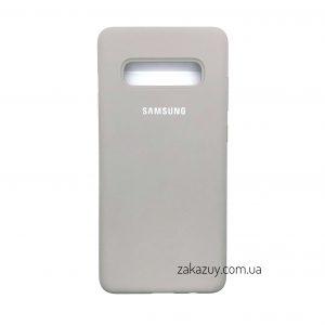 Оригинальный чехол Silicone Cover 360 с микрофиброй для Samsung G975 Galaxy S10 Plus (Grey)