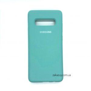 Оригинальный чехол Silicone Cover 360 с микрофиброй для Samsung G970 Galaxy S10e (Light Blue)