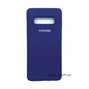 Оригинальный чехол Silicone Cover 360 с микрофиброй для Samsung G973 Galaxy S10 (Purple)