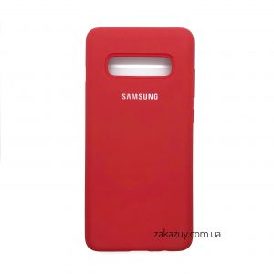 Оригинальный чехол Silicone Cover 360 с микрофиброй для Samsung G973 Galaxy S10 (Red)