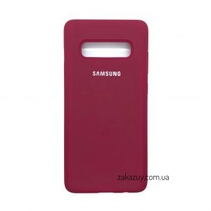Оригинальный чехол Silicone Cover 360 с микрофиброй для Samsung G973 Galaxy S10 (Hot Pink)