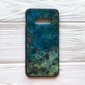 TPU+Glass чехол Luxury Marble с мраморным узором для Samsung G970 Galaxy S10e (Морская волна)
