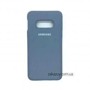 Оригинальный чехол Silicone Cover 360 с микрофиброй для Samsung G970 Galaxy S10e (Lavender Grey)