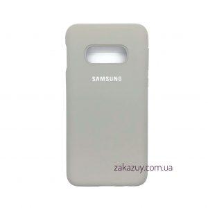 Оригинальный чехол Silicone Cover 360 с микрофиброй для Samsung G970 Galaxy S10e (Grey)